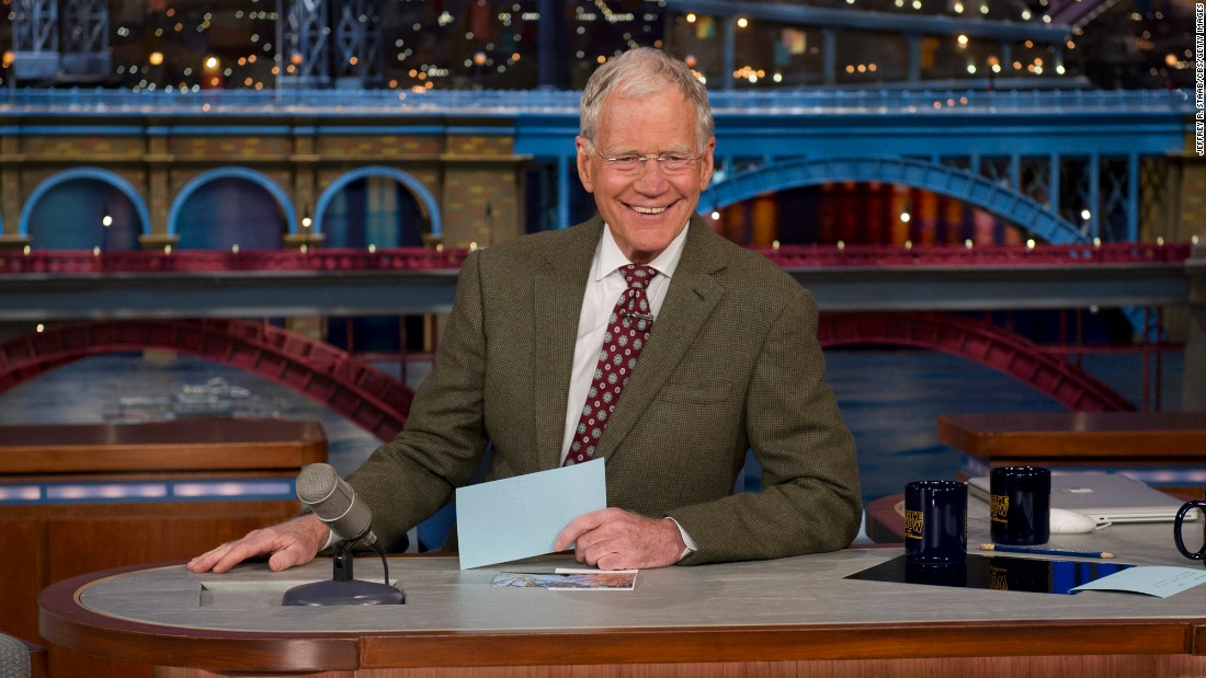 "David Letterman was the Grand Old Man of Late Night -- but he's now left the stage (and desk, chair and mic combination) to his younger colleagues. He <a href=""http://www.cnn.com/2015/05/21/entertainment/david-letterman-reaction-feat/"">signed off May 20, 2015.</a>"