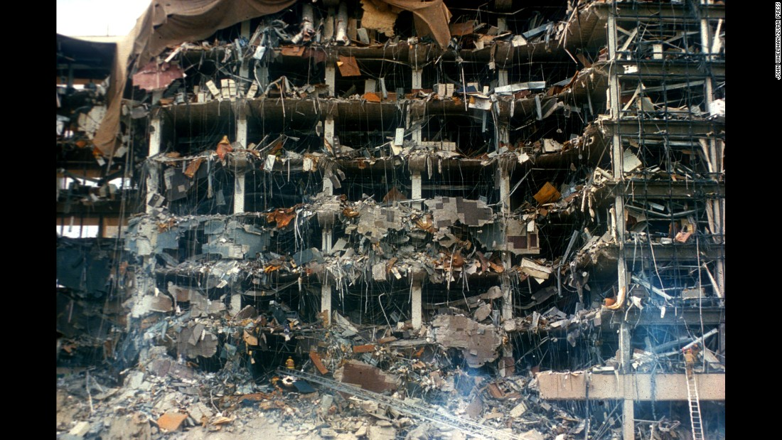 The Federal Building following the blast.