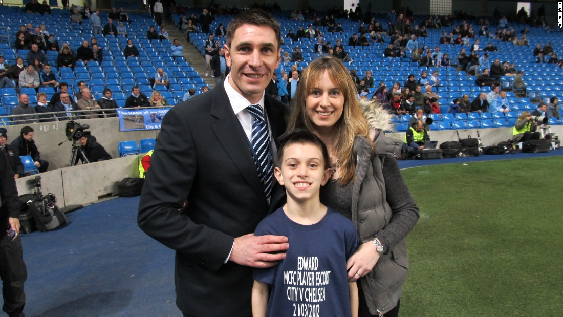 Edward Lake was diagnosed with autism very early on. His parents, former Manchester City player Paul and his mother Joanne, have been campaigning for greater awareness.