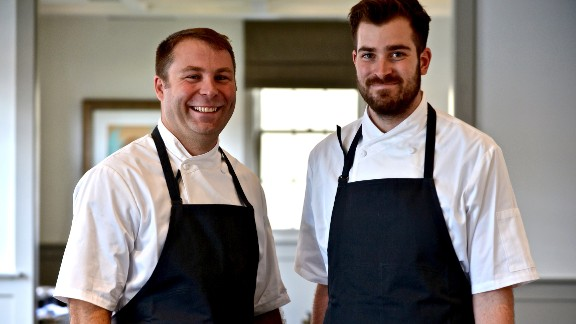 """Michael Fojtasek, left, and Grae Nonas aim to serve up the best local ingredients and seasonal dishes Austin has to offer at their farm-to-table restaurant Olamaie, which """"brings the taste of the South with a new modern spin."""" The spot was named a 2015 James Beard Awards semifinalist for best new restaurant and the second best new restaurant in Texas Monthly's """"Where To Eat Now"""" in 2015. Nonas was named a 2015 James Beard Awards semifinalist for rising star of the year"""