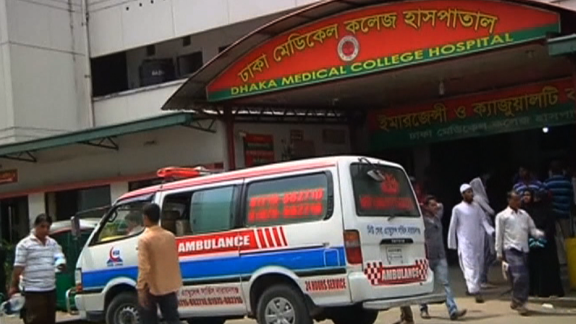 Hospital where blogger was taken after being hacked to death.