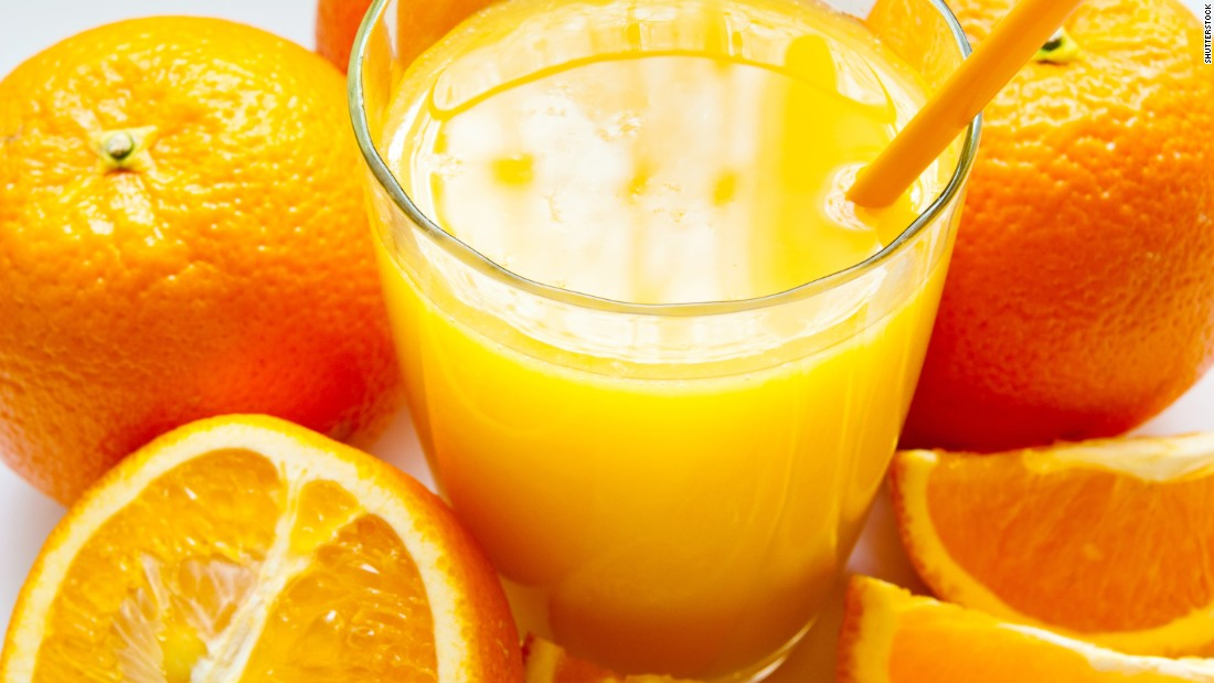 While vitamin C is good for you, acidic juices from raw fruits, like orange juice, can actually irritate your sore throat.