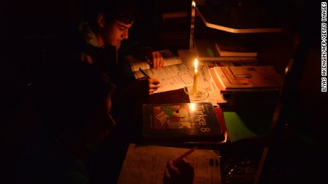 A massive power cut caused chaos Tuesday in large parts of Turkey.