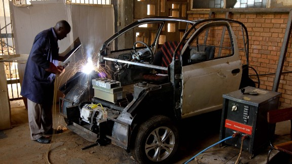 The 'Kiira EV' was the first electric car built in Uganda. The project, which was mostly run by students, launched a proof of concept in 2011 and plans to produce its first commercial car by 2018.