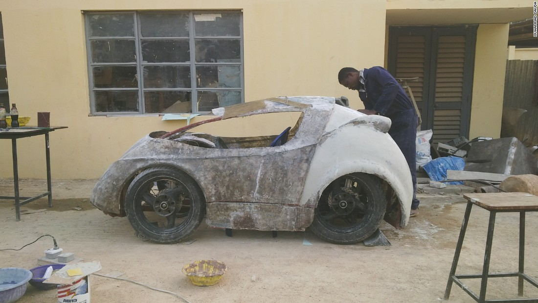 ABUCAR II, built by students from Nigeria's Ahmadu Bello University, will compete in the Shell Eco-marathon in May 2015.