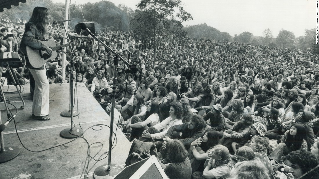 "Mitchell was near the height of her popularity when she performed at the 1972 Mariposa Folk Festival in Toronto. Some of her major albums include ""Clouds,"" ""Ladies of the Canyon,"" ""Blue,"" ""For the Roses,"" ""Court and Spark"" and ""Wild Things Run Fast."""
