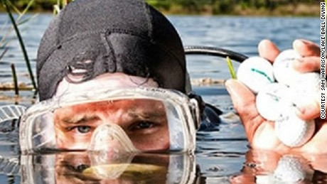 Golf-ball diving: The lakes lined with $150K of 'white gold'