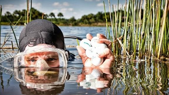 Sam Harrison is a professional golf ball diver.