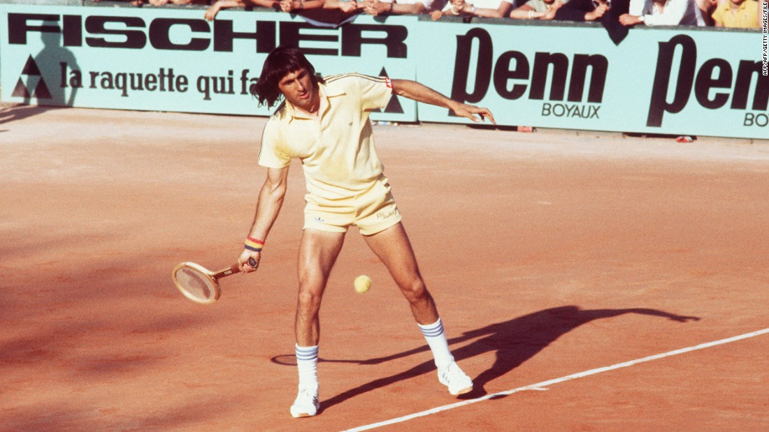 "Romanian Ilie Nastase, known as the ""Bucharest Buffoon"" was an entertaining player, amusing spectators with his antics and winning 779 matches in total."