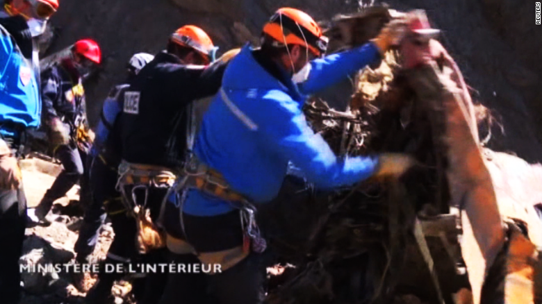 First up-close footage from the Germanwings crash site