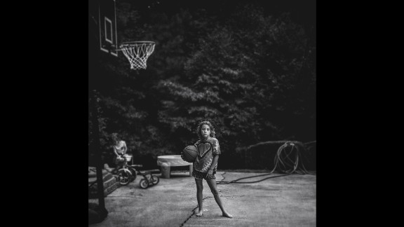 The basketball hoop came home as a Father