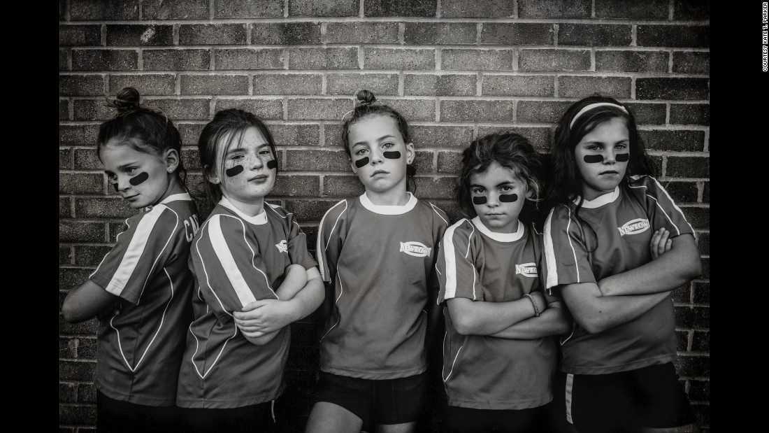 Parker coaches her daughters' soccer teams. When she asked some players to show their toughest faces, they didn't have to think about it. They were ready.