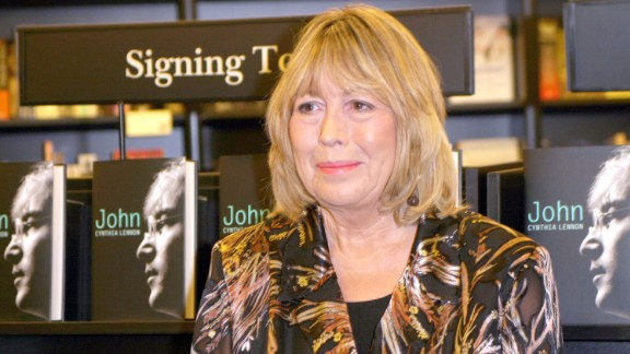 """Cynthia Lennon attends a signing for her book """"John"""" in London in 2005."""
