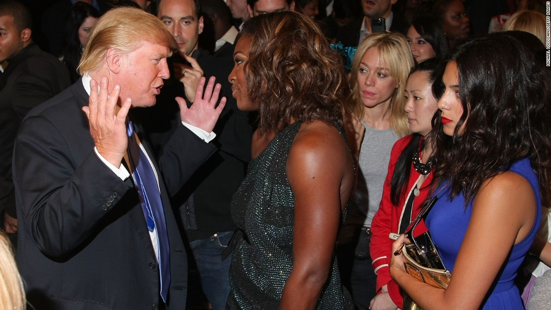 Trump and professional tennis player Serena Williams attend the Gucci  cocktail party for the Foundation For