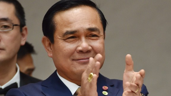 Thai Prime Minister Gen. Prayuth Chan-Ocha at a luncheon in Tokyo in February.
