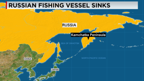 Kamchatka Peninsula On World Map.Russian Trawler Sinks Off Kamchatka Peninsula 54 Dead Cnn