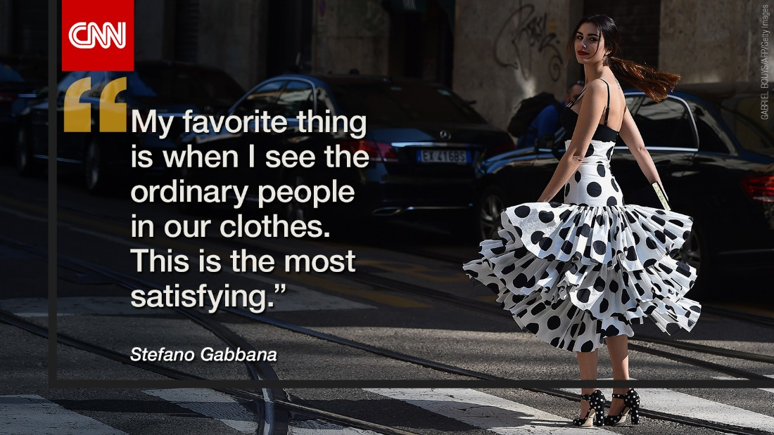 Dolce & Gabbana has been worn by countless A-list celebrities, from Madonna to Monica Bellucci, but they'd much rather see you in their clothes.