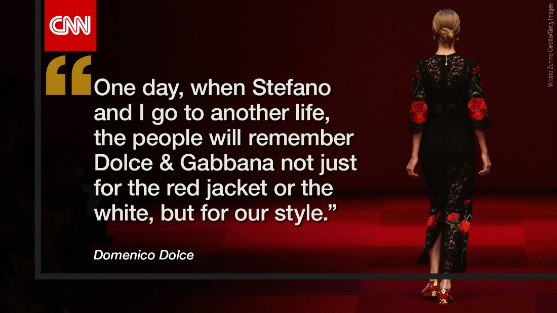 The only hope is that, whatever happens, Dolce & Gabbana is not forgotten.