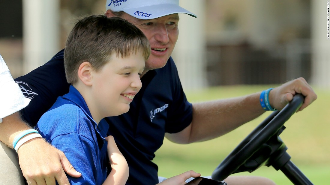 Veteran golf star Ernie Els is a longtime campaigner for autism awareness. His son Ben was diagnosed at an early age.