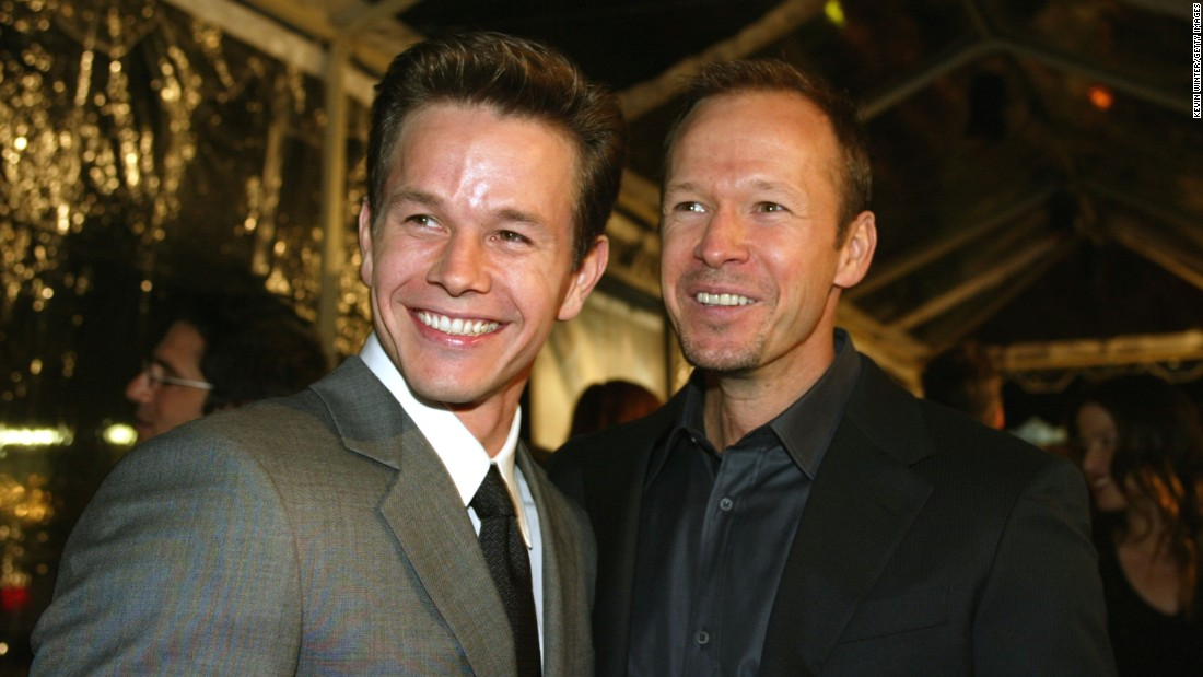 "Mark, left, and Donnie Wahlberg at the premiere of ""The Truth About Charlie"" in 2002. Donnie achieved early fame as a member of the New Kids on the Block boy band. Mark followed with a rap career, and both later transitioned into acting."