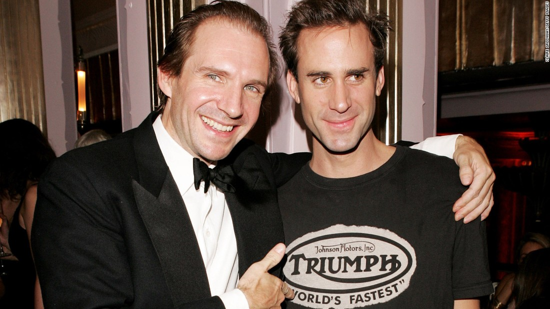 "Ralph, left, and Joseph Fiennes hail from an artistic family in England. Their mother was a novelist, their father a photographer. Joseph is known for playing the Bard in ""Shakespeare in Love."" Ralph played Voldemort in the ""Harry Potter"" films, among other bone-chilling roles."