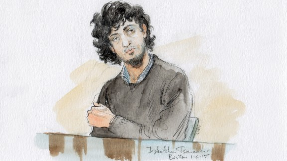 Tsarnaev Sketches from 3/30/2015