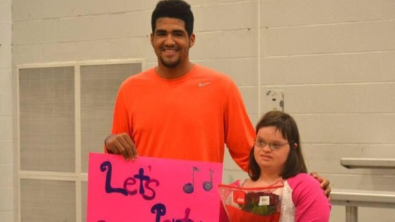 High school basketball star Trey Moses asked Ellie Meredith, who has Down syndrome, to the Eastern High School prom.