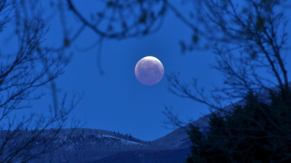 Shannon Chase rose early on Saturday to photograph the total lunar eclipse from her home in Carbondale, Colorado.
