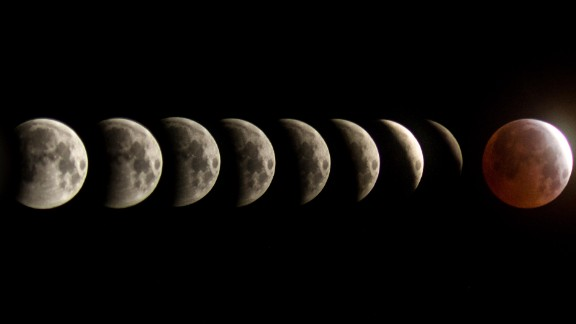 BG Boyd created a composition of the total lunar eclipse between the span of two hours Saturday morning in Tucson, Arizona. There are 10 minutes between each frame, he explained