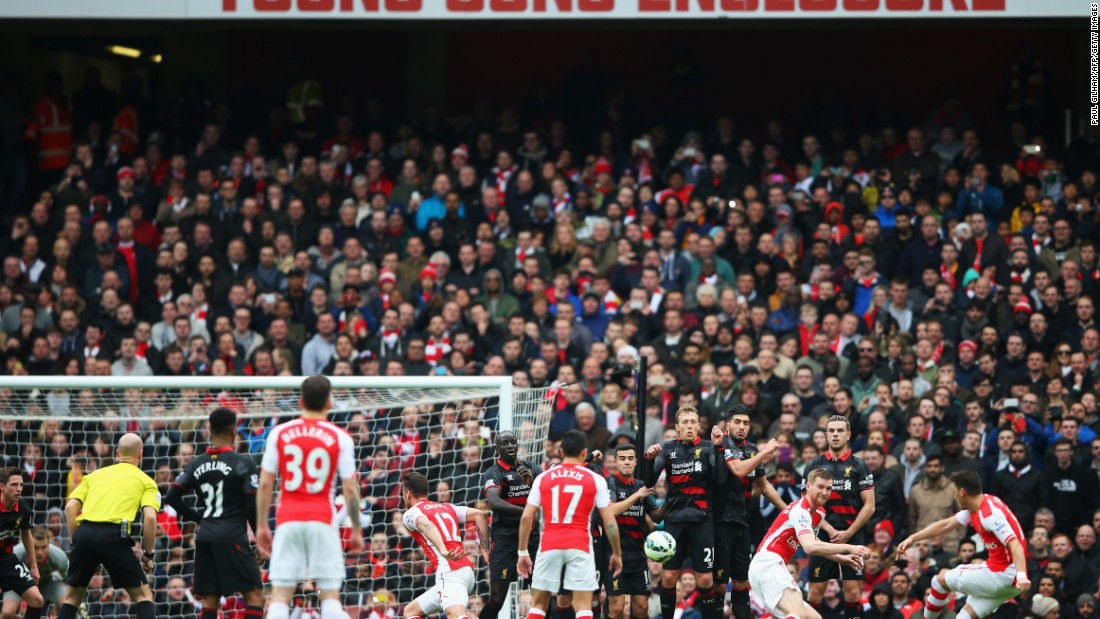 German Midfielder Mesut Ozil doubled the Gunners advantage moments later.