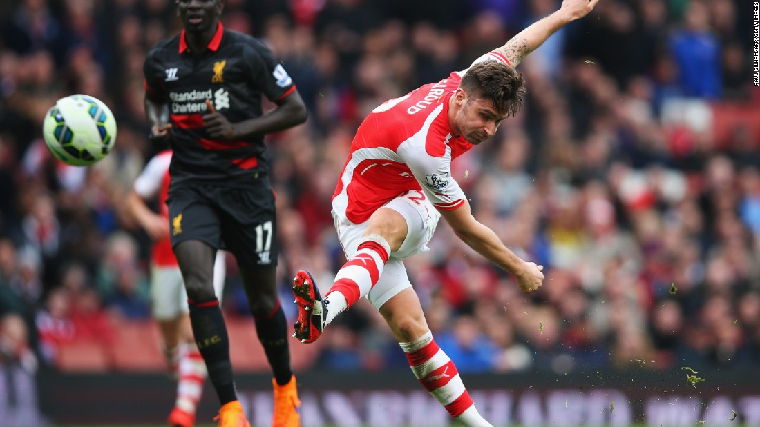 Olivier Giroud rounded off the scoring to make it 4-1.
