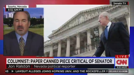 Did newspaper pull column to protect senator?_00015617