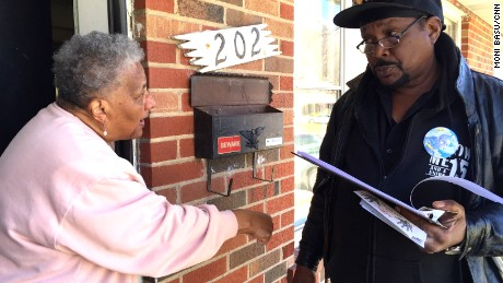Reginald Rounds speaks with Claudette Neil about voting for Bob Hudgins in Tuesday's election.