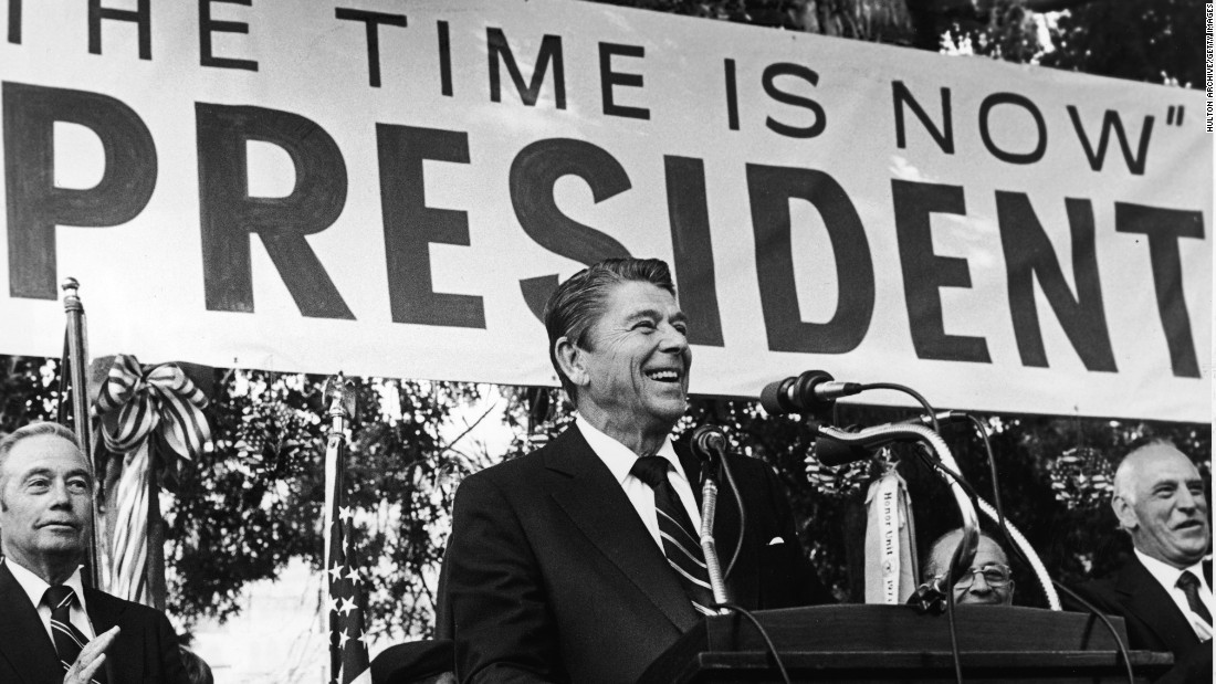 After serving as governor of California in the 1960s, Reagan launched an unsuccessful presidential campaign in 1979.