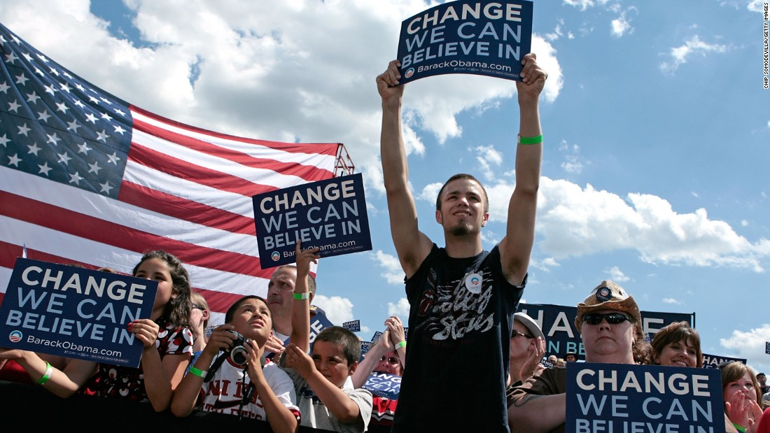 "Obama's camp also used ""Change We Can Believe In"" during the 2008 campaign."