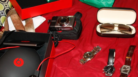 Police in Los Angeles last year executed search warrants on 25 locations after getting complaints about thefts in two terminals at the Los Angeles International Airport. Click through this gallery to see some of the items police believe were taken from passengers