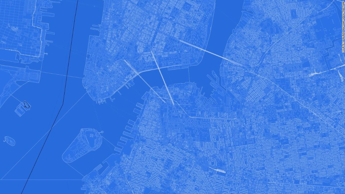 Question: Which iconic U.S. city is represented in this blueprint map?