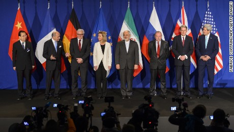 Representatives of Iran and officials from China, France, Germany, the European Union, Russia, the UK and the US announced their framework deal in 2015.