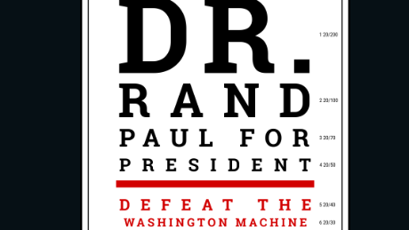 A poster from the Rand Paul for President campaign.