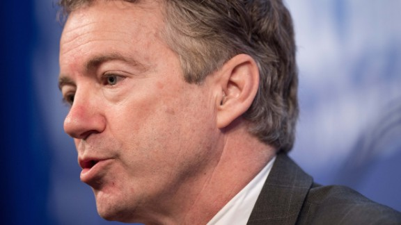 US Republican Senator from Kentucky Rand Paul addresses the 2015 Conservative Policy Summit at the Heritage Foundation in Washington on January 13, 2015. Paul is a possible presidential candidate in next year's election.  AFP PHOTO/NICHOLAS KAMM        (Photo credit should read NICHOLAS KAMM/AFP/Getty Images)