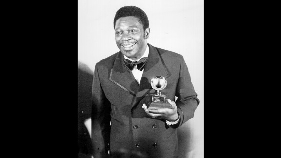 """King poses in 1971 after winning the Grammy Award for Best Male R&B Vocal Performance. He received the award for the song """"The Thrill Is Gone."""""""