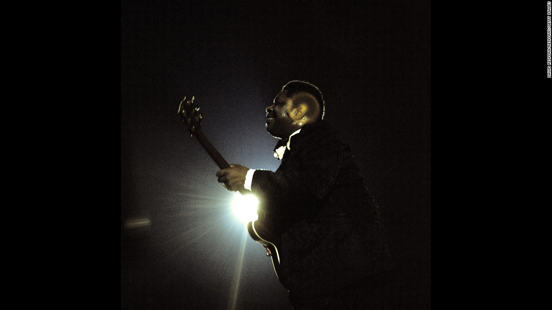 King performs at the Newport Jazz Festival in New York in 1972.