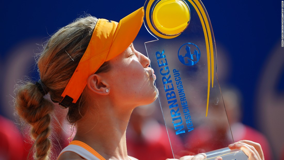 Though she has traditionally fared better on hard courts and grass, Bouchard's first title came on clay last year in Germany.