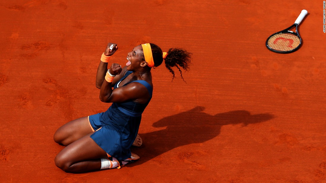 World No. 1 Williams won the 2013 French Open ...