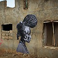 YS Yseult street art Senegal project Amazone