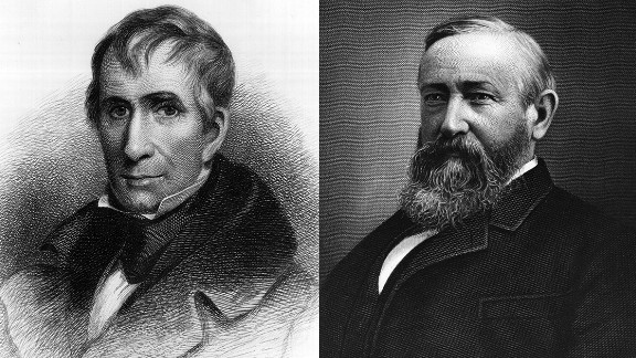 William Henry Harrison's tenure as the nation's ninth president didn't last long. But his grandson, Benjamin Harrison (right), did serve a full four-year term as the 23rd president, serving in the late 1800s.