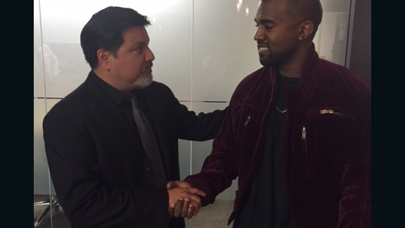 Kanye West (right) and Daniel Ramos (left)