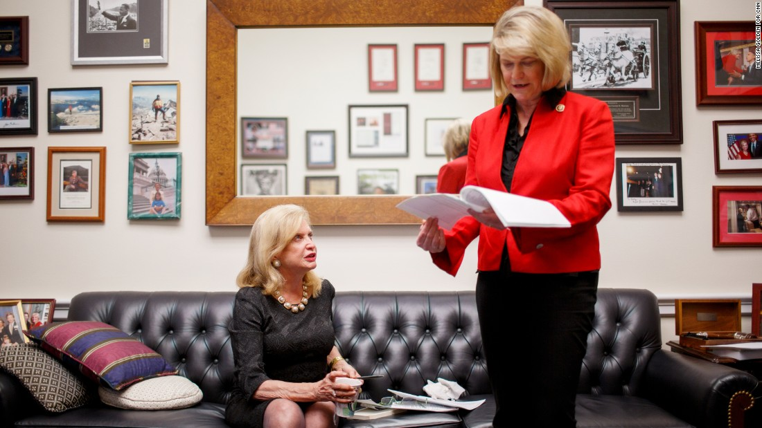 Rep. Carolyn Maloney, left, has been fighting to pass the Equal Rights Amendment for nearly 20 years. This time, though, the New York Democrat has an unlikely ally: Rep. Cynthia Lummis, a conservative Republican from Wyoming. The last time the ERA had traction was in the 1970s and early '80s. Click through the gallery to see other key politicians who have fought for the ERA through the decades: