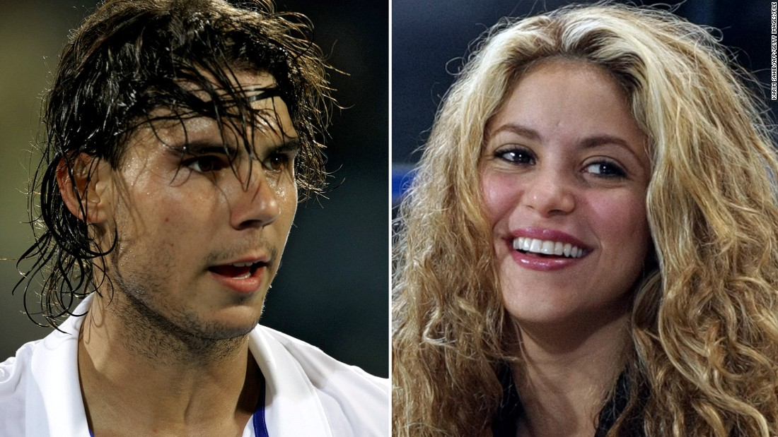 "Fourteen-time grand slam winner Rafael Nadal partnered up with Colombian pop idol Shakira in 2010 to promote her single ""Gypsy,"" starring in her steamy music video and sparking rumors that they were seeing each other. A few weeks later Shakira started seeing her husband to be, Spanish international footballer Gerard Pique."