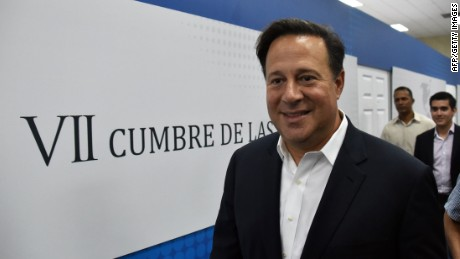 Panama President Juan Carlos Varela